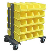 Strong Hold® Heavy Duty Mobile Bin Rack 3.33.2-BR-40CA - Double-Sided With 40 Bins