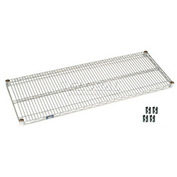 "Nexel S2436S Stainless Steel Wire Shelf 36""W x 24""D with Clips"