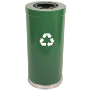 "Steel Recycling Container Green 15""Dia x 32""H"