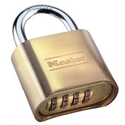 "Master Lock® Set-Your-Own Brass Combination Padlock 2""W - Pkg Qty 3"