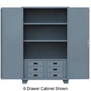 "Global&#8482 Heavy Duty Cabinet HG236 Solid Door with Drawers, Welded 36""W x 24""D x78""H"