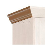 Hallowell WCME18W-RO Wood Club Locker End Crown Molding 18x4 Red Oak