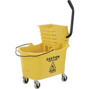 Global™ Mop Bucket And Wringer Combo - Side Press