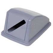 "Global™ Recycling Paper Lid - Gray 13""W x 18""D x 9""H"