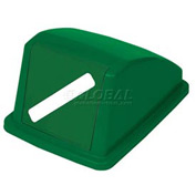 "Global™ Recycling Paper Lid - Green 13""W x 18""D x 9""H"