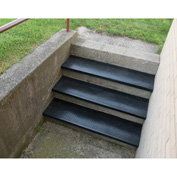 "Outdoor Recycled Rubber Stair Tread 54""W Black"
