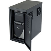 Orbit CPU Side Cabinet with Front/Rear Doors and 2 Exhaust Fans - Black