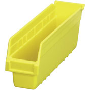 "Akro-Mils ShelfMax® Plastic Shelf Bin Nestable 30048 - 4-1/8""W x 17-7/8""D x 6""H Yellow - Pkg Qty 8"
