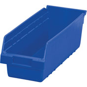 "Akro-Mils ShelfMax® Plastic Shelf Bin Nestable 30098 - 6-5/8""W x 17-7/8""D x 6""H Blue - Pkg Qty 10"
