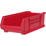 "Akro-Mils Super-Size AkroBin® 30286 - Stacking Bin 11""W x 23-7/8""D x 7""H Red - Pkg Qty 4"