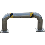 """Stainless Steel Low Profile Rack Guard 36"""" L x 16"""" H x 4-1/2"""" Dia"""