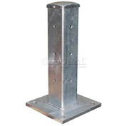 "Galvanized Structural Guard Rail Post 18"" H"