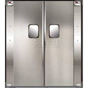TMI Service-Pro™ Double Restaurant Swinging Door 6 x 7 Aluminum 300-00305