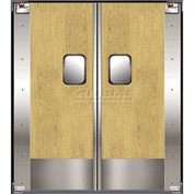 TMI Service-Pro™ Double Restaurant Swinging Door 6 x 7 Wood Laminate & Kick Plate 300-00347