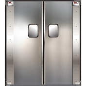 TMI Service-Pro™ Double Restaurant Swinging Door 6 x 7 Stainless Steel 300-00317