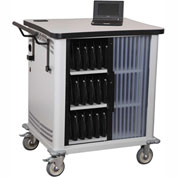 Datum Netbook Storage & Charging Cart without Storage Shelf 30 Netbooks, Series CSC-ML30
