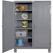 "Durham Heavy Duty Double Shift Storage Cabinet HDDS244878-8S95 - 12 Gauge 48""W x 24""D x 78""H"