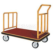 Aarco Deluxe Brass Luggage Platform Cart FB-1B 42 x 24