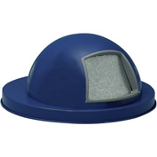 Steel Dome Top for Mesh Trash Container - Blue