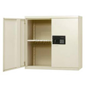 Sandusky Snapit Keyless Electronic Wall Cabinet KDEW30123 Easy Assembly - 30x12x30, Putty