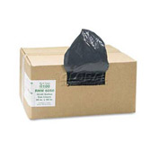ReClaim™ Black Recycled Can Liners - 55 to 60 Gallon, 1.25 Mil, 100/Case