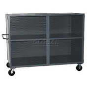 Jamco Mesh Door Security Truck VH472 72 x 38 2 Fixed Shelves 3000 Lb. Cap.