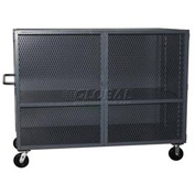 Jamco Mesh Door Security Truck VK472 72x38 1 Fixed & 1 Adjustable Shelf 3000 Lb. Cap.