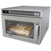 Amana HDC12A2 - Commercial Microwave, 0.6 Cu. Ft., 1200 Watts, Push Buttons, Stainless Steel, 120V