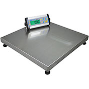 "Adam Equipment CPWplus 75M Digital Platform Scale 165 x 0.05lb 19-11/16"" Square Platform W/ Wheels"