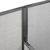 "Interion™ High Low Three Way Kit For Two 76"" High Panel"