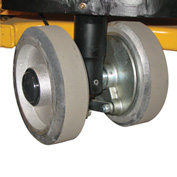 "Two 7"" Polyurethane Steer Wheels & Brakes 272147 for Wesco® Pallet Truck 984873"