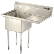 "Aero One Bowl SS sink 18 x 18 with 16-1/2"" Right Side Drainboard"