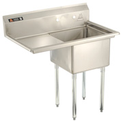 "Aero One Bowl SS sink 18 x 18 with 16-1/2"" Left Side Drainboard"