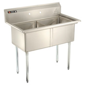Aero Two Bowl SS sink 24 x 24