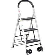 "Folding Stepladder Also Functions as a Hand Truck 18-1/2""W x 29""D x 47""H"
