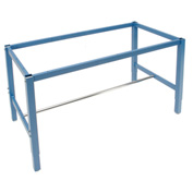 "96""W x 30""D Workbench Frame-Blue"