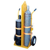 Vestil Fire Protection Welding Cylinder Cart CYL-EH-FP-FF Foam Filled Wheels 22-13/16 x 34-1/4