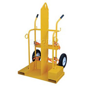 Vestil Fire Protection Welding Cylinder Cart CYL-2-FP-FF Foam Filled Wheels 28 x 37-1/2 x 69-1/8