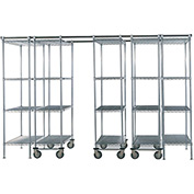 "SPAC TRAC 5 Unit Storage Shelving Chrome 36""W x 21""D x 74""H - 12 ft."