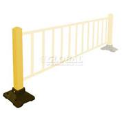 "Safety Steel Galvanized Post with Rubber Base 39""H Yellow"