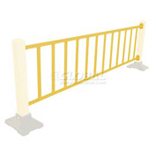 Safety Steel Galvanized Rail with Bracket 10 Ft. Yellow