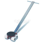 GKS Perfekt® L2 Machinery Roller Dolly Swivel Plate, Steer Handle 4400 Lb. Cap.