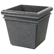 "Concrete Stone Tec Outdoor Planter, 19"" Square Pepperstone"