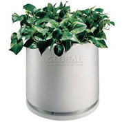 "Plastic Outdoor Planter With Water Dish, 22"" Round White"