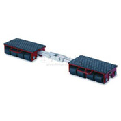 GKS Perfekt® F12 Machinery Roller Dolly Rigid Plates, Adjustable Width Connector Bar 26,400 Lb.