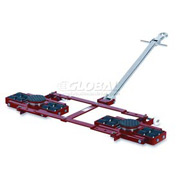 GKS Perfekt® TL12 Tandem Roller Dolly Swivel Plates, Adjustable Width Frame 26,400 Lb. Cap.