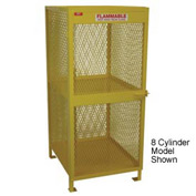 "Global™ Cylinder Storage Cabinet - Vertical Single Door 12 Cylinders - 50""W x 40""D x 71""H"