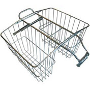 Industrial Bicycle Twin Rear Carrier Wire Basket