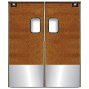 Chase Doors Medium Duty Service Door Double Panel Maple 6' x 8' with Kickplate 7296SC