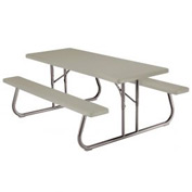 "Lifetime® Fold-Away Picnic Table 72"" X 30"" - Putty - Pkg Qty 10"